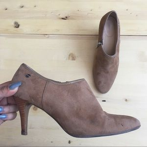 Calvin Klein Suede Ankle Booties